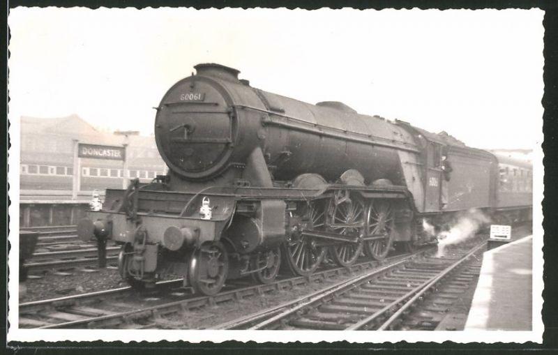Fotografie Fotograf unbekannt, Ansicht Doncaster, Eisenbahn Englandd, Dampflok Class A3