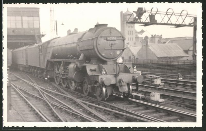 Fotografie Fotograf unbekannt, Ansicht Newcastle, Eisenbahn England, Dampflok Class A2
