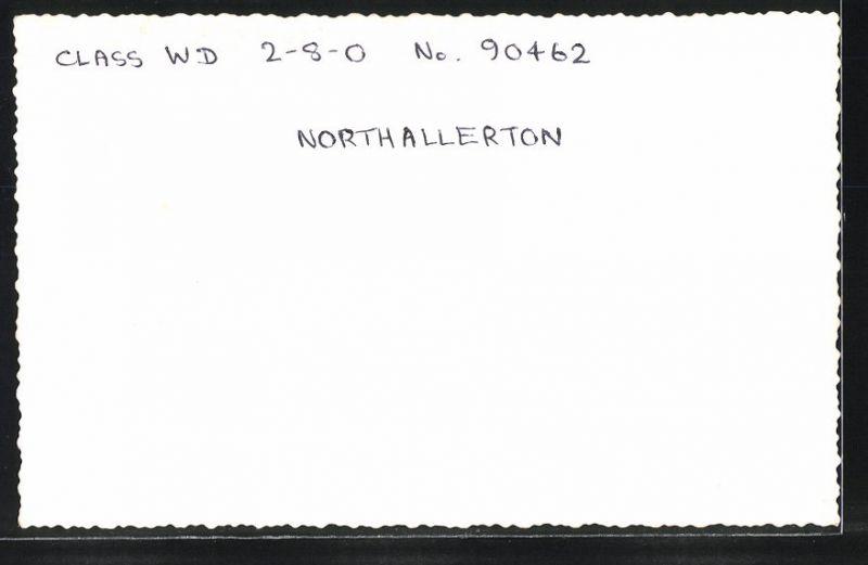 Fotografie Fotograf unbekannt, Ansicht Northallerton, Dampflok Class WD, Lok-Nr.: 90462, Eisenbahn England 1