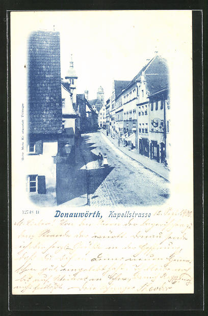 AK Donauwörth, Blick in die Kapellstrasse 0