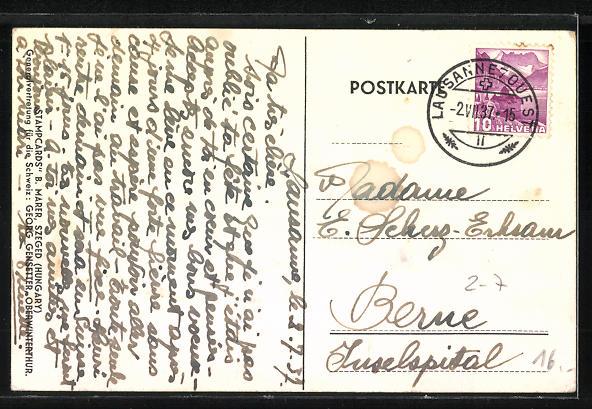 AK Elefant aus einer Briefmarkencollage 1