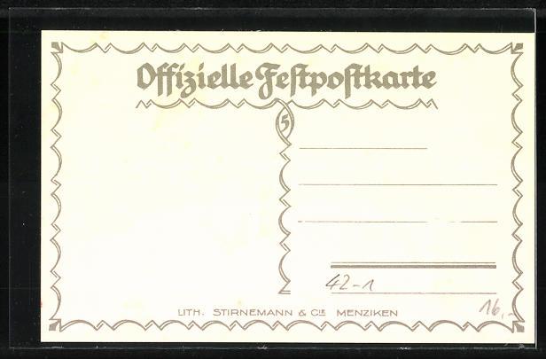 AK Aarau, eidg. Schützenfest 18.7. - 5.8.1924, Jahrhundertfeier, Männer in Mänteln mit geschulterten Gewehren 1