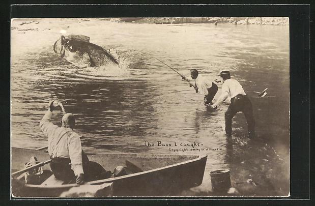 AK Fischer fangen übergrossen Fisch 0