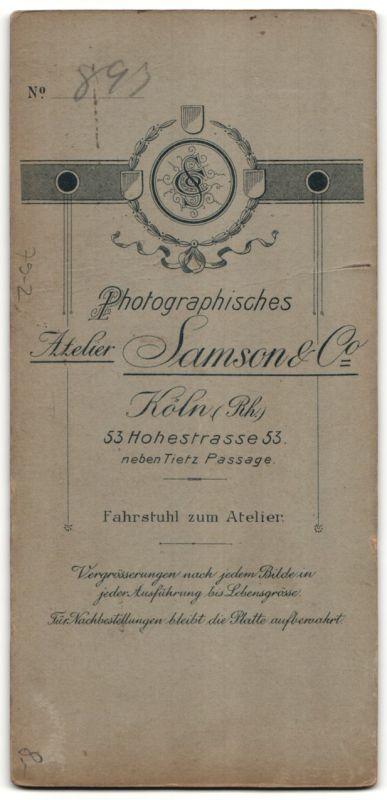 Fotografie Samson & Co., Köln, Edelmann mit Schnauzbart im Anzug 1