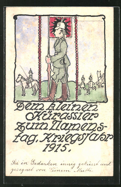 Künstler-AK Handgemalt: