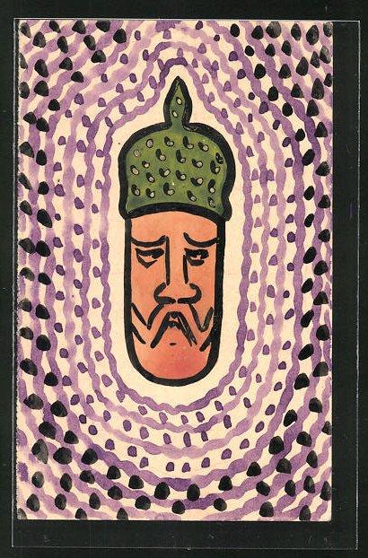 Künstler-AK Handgemalt: Karikatur von Kaiser Wilhelm II. 0