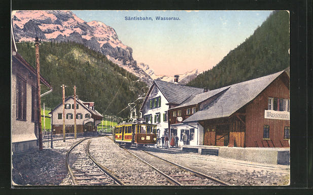 AK Wasserau, Bahnhof der Säntisbahn 0