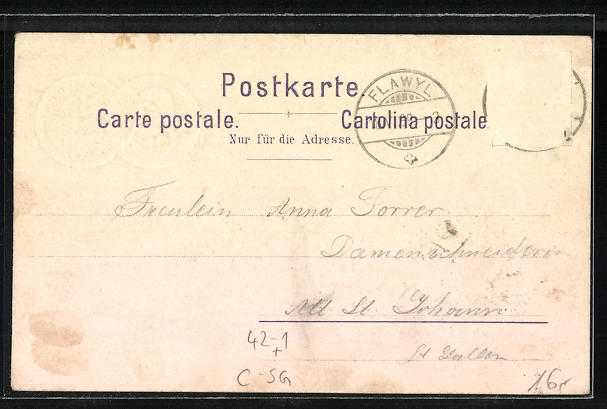 Lithographie Flawil, St. Galler Kantonalschützenfest 1899, Festplatz, Ortsansicht 1