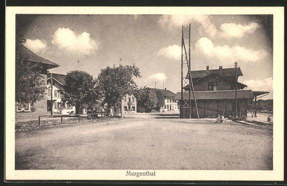 AK Murgenthal, Strassenpartie am Bahnhof 0