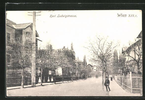 AK Wien, Blick in die Karl Ludwigstrasse