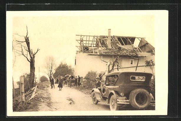 AK Chaux-de-Fonds, Cyclone 12.6.1926, Ferme détruite, Zerstörtes Haus nach Unwetter 0