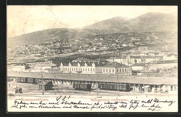 AK Noworossisk, Teilansicht mit Bahnhof 0