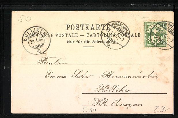 Lithographie Gösgen, Wirtschaft zum Falkenstein 1