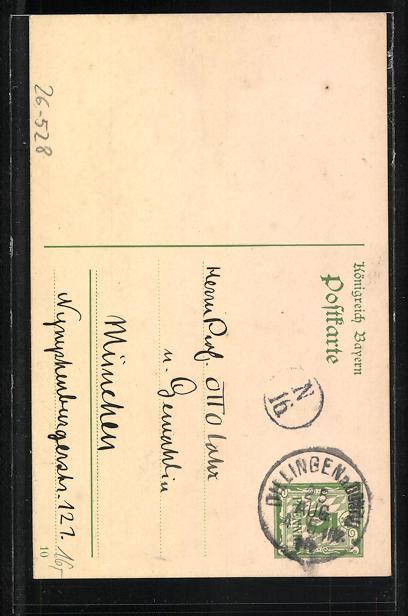 Künstler-AK Handgemalt: Zur ersten Wiederkehr eures Hochzeitstages..., 1909-1910, Ganzsache 1