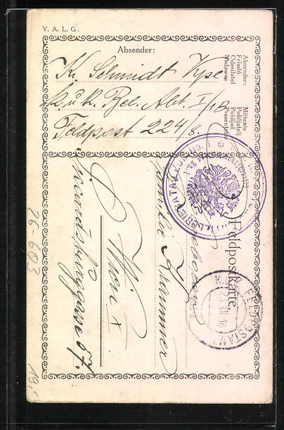 Künstler-AK Handgemalt: Österreich. Soldat und Eisenbahn 1