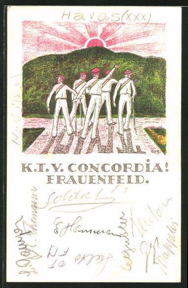 Künstler-AK Frauenfeld, Studentische Vereinigung K.I.V. Concordia 0