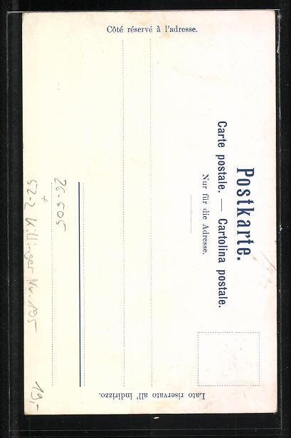 Künstler-AK Fritz Hass, Killinger Nr. 195: Porträt v. König Ludwig II., Neuschwanstein, Berg mit Gesicht / Berggesichter 1