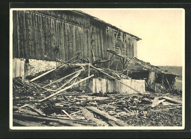 AK Les Crosettes, Cyclone du 23 Aout 1934, Ferme Hauri détruite 0