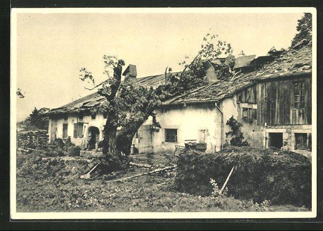 AK Combe du Seret, Cyclone du 23 Aout 1934, Ferme Balmer détruite 0