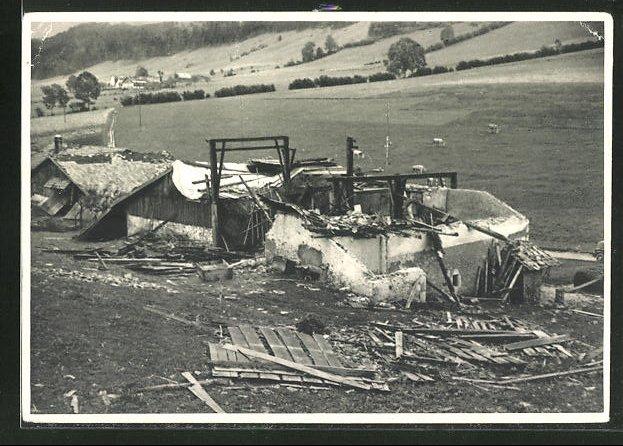 AK Les Convers-Hameau, Cyclone du 23 Aout 1934, Ferme Tschäppät détruite 0