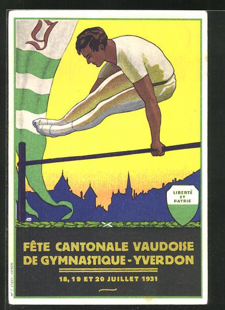 AK Yverdon, Fete Cantonale Vaudoise de Gymnastique 1931 0
