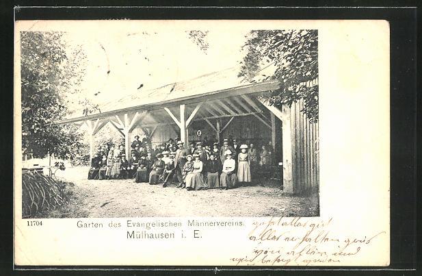 AK Mülhausen, Garten des Evangelischen Männervereins 0