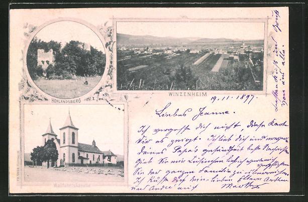 AK Winzenheim, Wallfahrtskapelle, Ruine Hohlandsberg 0