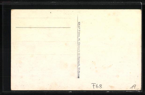 AK Mulhouse-Dornach, 1. Fete Nationale 1919, Foire sur la place du Marché 1