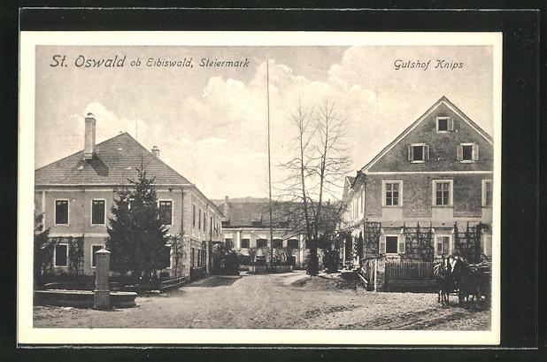 AK St. Oswald, Ansicht vom Gutshof Knips 0