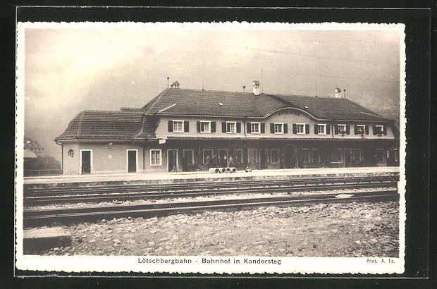 AK Kandersteg, Blick auf den Bahnhof 0
