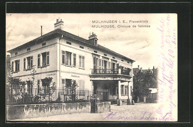 AK Mülhausen, Ansicht der Frauenklinik, Wilhelm Tellstrasse 2 0
