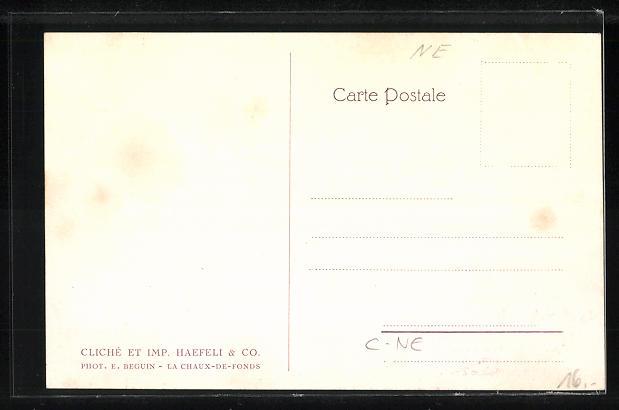 AK Chaux-de-Fonds, Bombenkrater am Ortsrand vom 17.10.1915 1