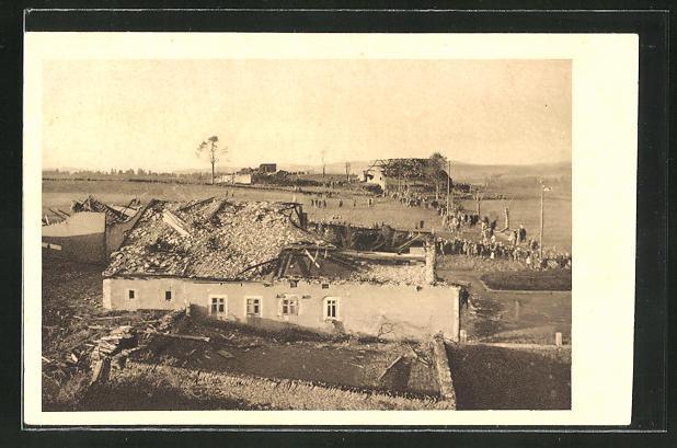 AK Chaux-de-Fonds, Unwetter vom 12.6.1926, Zerstörtes Gehöft 0