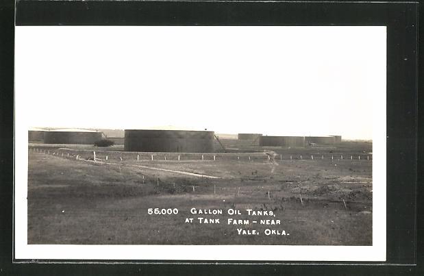 AK Yale, OK, Gallon Oil Tanks at Tank Farm, Erdöl-Tanks 0