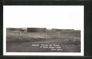 AK Yale, OK, Gallon Oil Tanks at Tank Farm, Erdöl-Tanks
