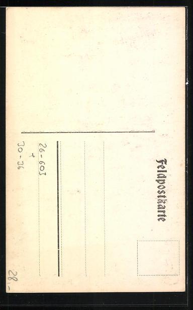 Künstler-AK Handgemalt: Beobachter der Kgl. Bayr. Min. Werf. Komp. 306 1