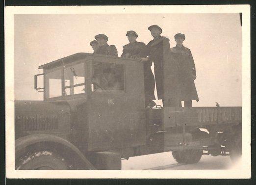Fotografie Lastwagen, LKW-Pritsche der Firma Thyssen-R...