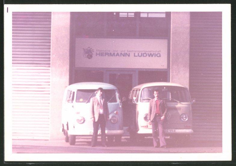 Fotografie Auto VW Bulli T1 & T2, Allgemeine Land- und Seetransport AG, Hermann Ludwig in Duisburg 0