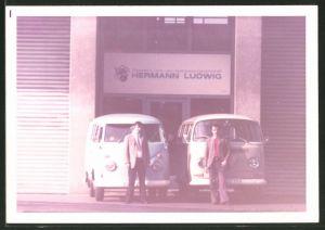 Fotografie Auto VW Bulli T1 & T2, Allgemeine Land- und Seetransport AG, Hermann Ludwig in Duisburg