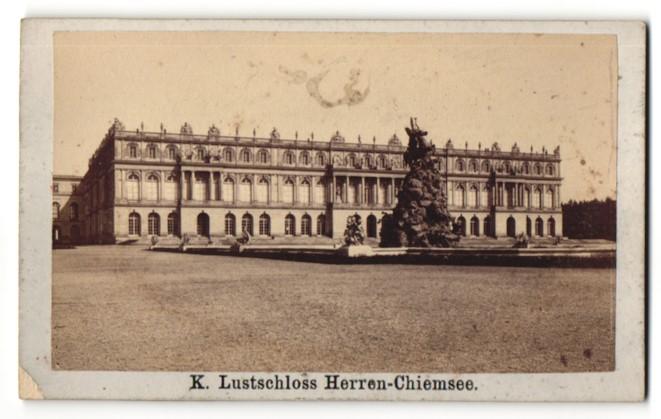 Fotografie Stephan Luger, München, Ansicht Herrenchiemsee, Motiv vom Lustschloss