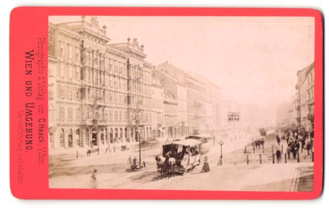 Fotografie C. Haack, Wien, Ansicht Wien, Praterstrasse