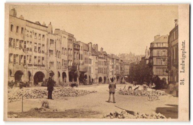 Fotografie unbekannter Fotograf, Ansicht Metz, Ludwigsplatz