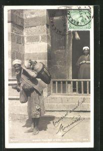 AK Caire / Sakka, Porteur d'Eau, arabischer Wasserträger