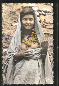 AK Mauritane, Femme Maure, arabische nackte Frau