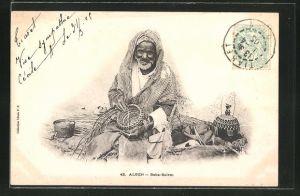 AK Alger, Baba-Salem, arabischer Korbflechter