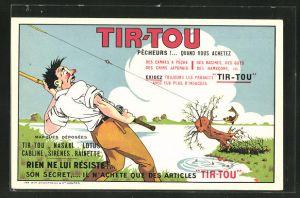 AK Amboise, Reklame für Anglerei-Bedarf von