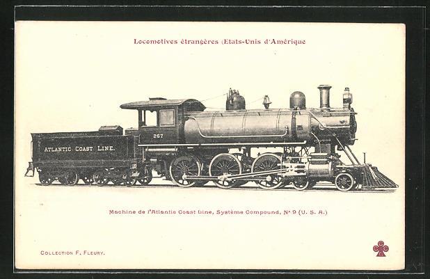 AK Locomotives etrangeres, Dampflok, Tender-Lokomotive Nr. 267 der Atlantic Coast Line