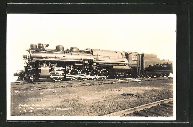 AK Canadian Pacific Railway, Dampflok, Tender-Lokomotive Nr.: 8000