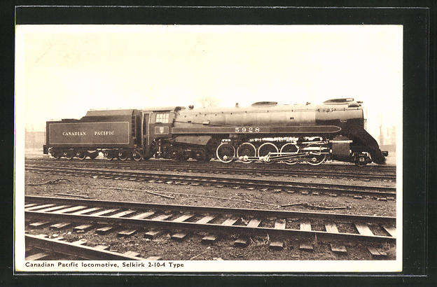 AK Canadian Pacific Railway, Locomotive Selkirk 2-10-4 Type, Dampflok Nr.: 5928