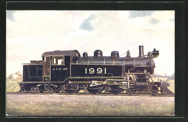 AK Canadian Pacific Railway, Tank Locomotive 4-6-4 No. 1991